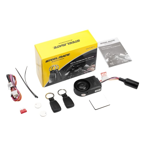 Buy Steelmate SKM21 Motorcycle Alarm System Remote Engine Start Transmitter Immobilizer Anti Theft Security