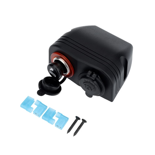 Car Cigarette Lighter Socket Plug + Power Charger Adapter