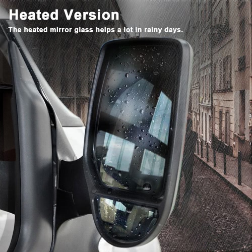 Buy Wide Angle Wing Door Mirror Car Right Drive Side Heated Glass Ford Transit 2000-2013
