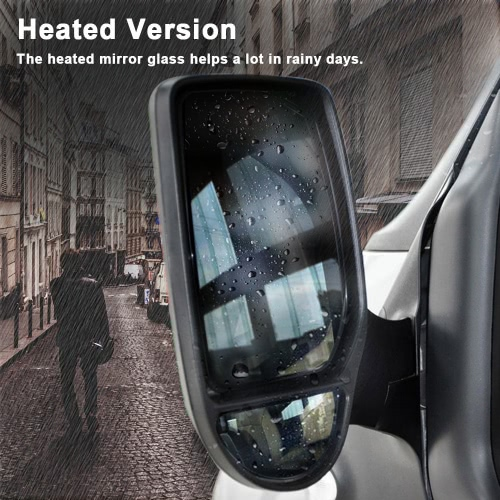 Buy Car Left Drive Side Heated Glass Wide Angle Wing Door Mirror Ford Transit 2000-2013