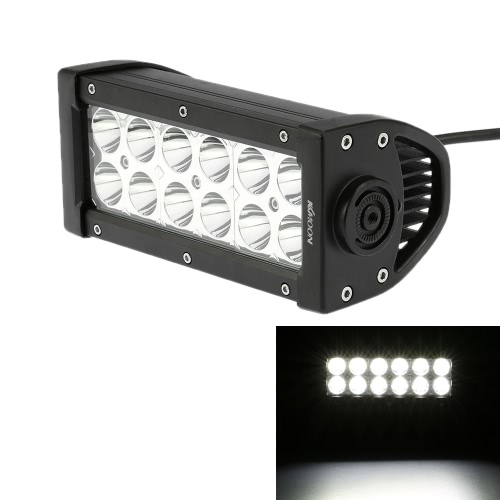 KKmoon 36W LED Car Work Light Bar 6.3 Inch 2700LM Spot Beam for Jeep 4x4 Offroad ATV Truck SUV 12V 24V от Tomtop.com INT