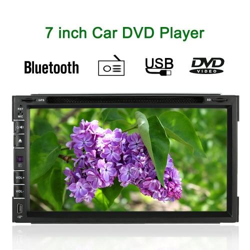7 Inch Universal 2 Din Car DVD/USB/SD Player GPS Navigator HD Elegant UI Multimedia Bluetooth Radio Entertainment System