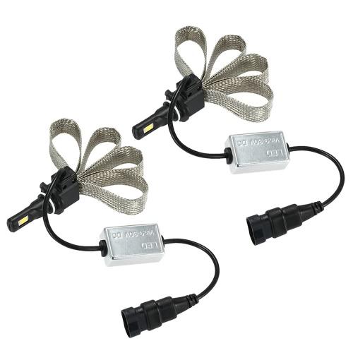 Buy KKmoon 1 Pair 30W 3200LM 9006 COB Chip LED Headlight Fog Light 12V 24V Car Upgrade Replacement Bulb Beam Kit 6000K White