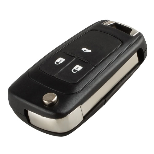 3 Button Folding Flip Key Shell Case Remote Key Cover Replacement Uncut Blade Vauxhall OPEL ASTRA ZAFIRA