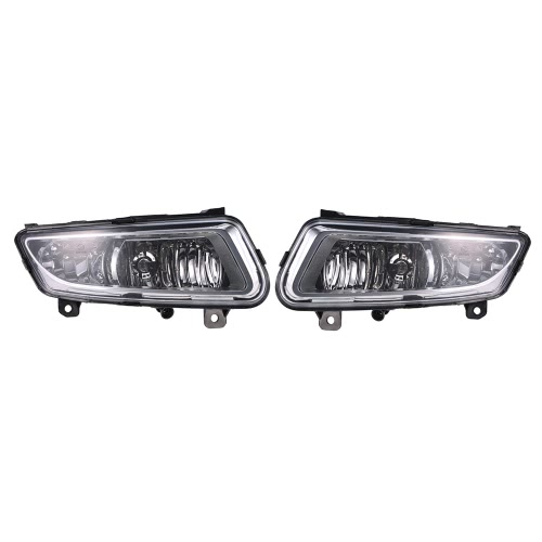 Buy Pair Front Lower Bumper Fog Light Lamp Cover Case VW Volkswagen Polo 2010-2013 6RD853665LH