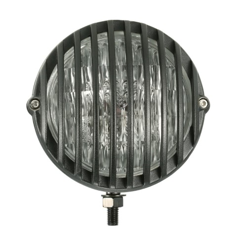 Buy H4 12V 55W 5-inch Motorcycle Scalloped Headlight Grille Lampshade Harley Chopper Bobber