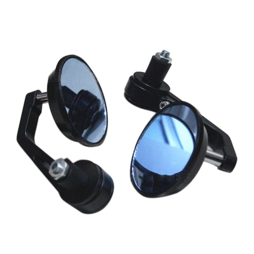 Buy 1 Pair Universal Motorcycle Aluminum Alloy Round Shape Rearview Side Mirror Modified Accessories 22mm Exterior Diameter Handlebar Bar End Street Cars Scooters