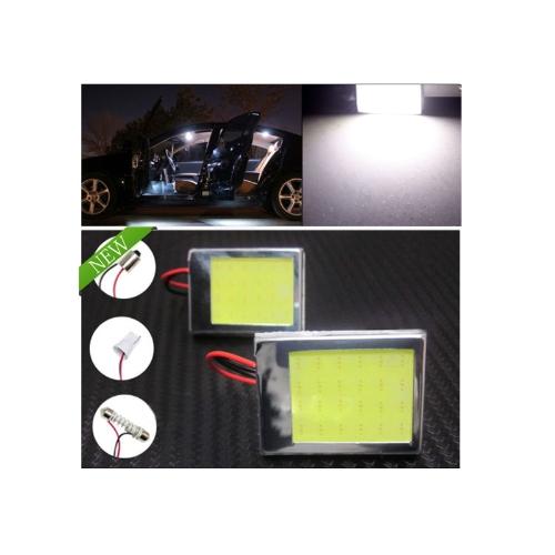 Buy Aluminum T10 Dome Festoon Car Interior License Plate COB LED Light Lamp+3 Adapter