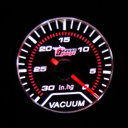 "Car Motor Universal Smoke Len 2"" 52mm 30-0 IN/HG Indicator Vacuum Gauge White LED Light от Tomtop.com INT"