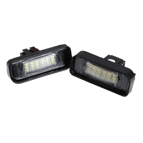 Buy Pair Error Free 18 3528 SMD LED License Plate Light Lamp Benz W220 1999-2005