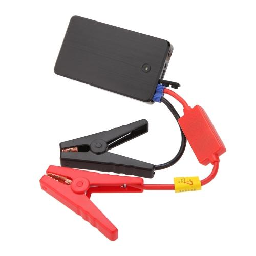 Buy 12V 10000mA Rechargeable Multi-Function Portable Mini Car Jump Starter Battery Mobile Power Bank LED Light SOS Function Gasoline Cellphone