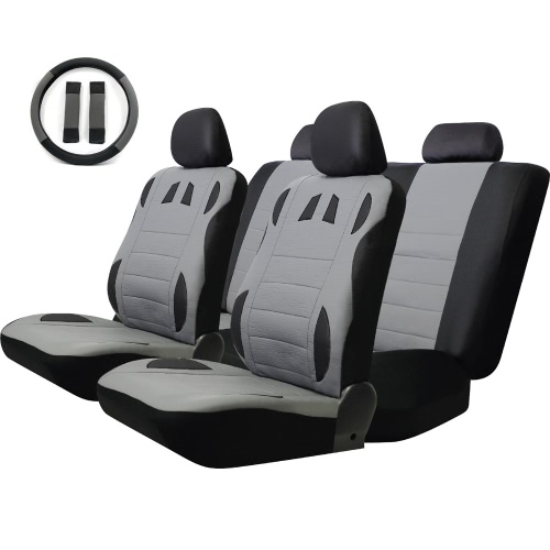 Tirol Universal 13PCS Car Seat Cover Faux Leather Front Rear Covers Wheel Cover Seat Cover Set от Tomtop.com INT