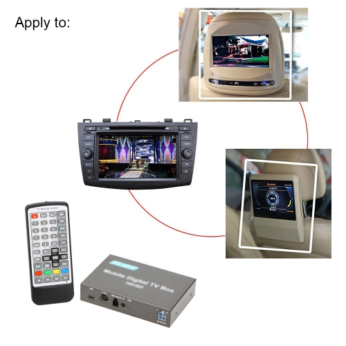 Buy DVB-T Mini Various Channel Mobile Car Digital TV Box Analog Tuner High Speed 240km/h Strong Signal Receiver