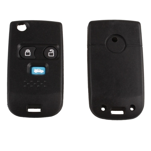 3 Button Flip Folding Key Case Shell Upgrade Combo Blank Blade Key FOB Cover For Ford