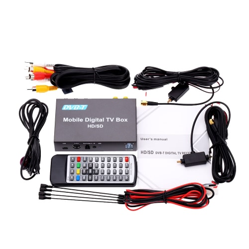 Buy DVB-T Mini Various Channel Mobile Car Digital TV Box Analog Tuner High Speed 240km/h Strong Signal Receiver 2 Antenna