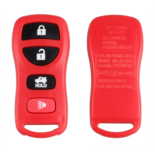 New Replacement 4 Button Keyless Entry Remote Key Fob Transmitter Clicker Nissan Infiniti Red