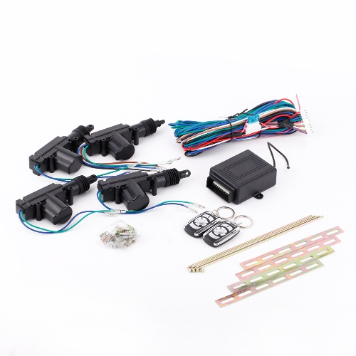 Buy 4 Door 12V Car Remote Control Central Keyless Entry Lock Kit Actuator Metal