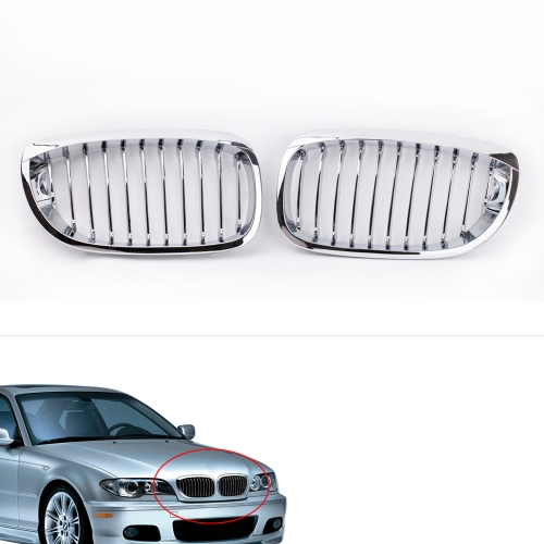 Buy Silver Front Kidney Grille BMW E46 2D 2002-2005