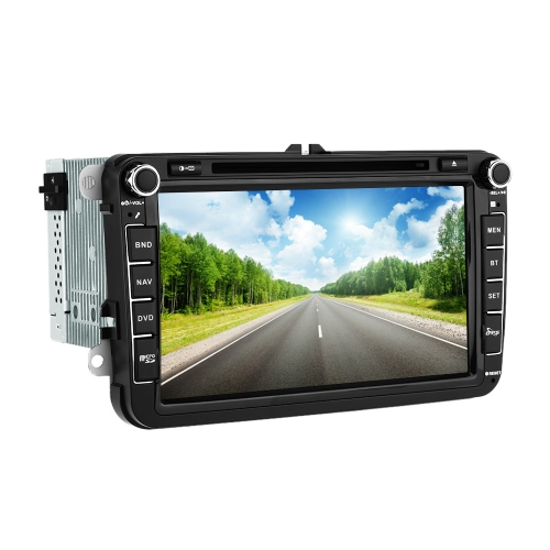 Buy 8 Inch HD Digital Touch Screen Car DVD Player Radio PC Stereo Head Unit GPS Navigation Bluetooth Multimedia VW Volkswagen SAGITAR JETT PASSAT CC SKODA+ Free Map +Free Card