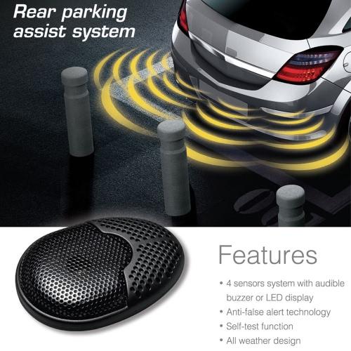Buy Steelmate Ebat C1 4 Sensors Parking Assist System Car Sensor Reverse Radar Alert External Audible Buzzer Speaker