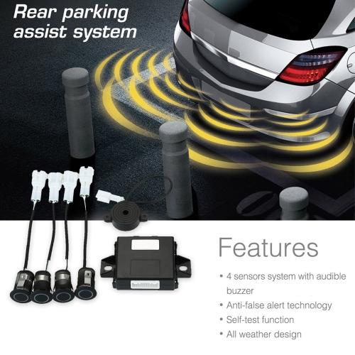 Buy Steelmate PD400 4 Sensors Parking Assist System Car Sensor Reverse Radar Alert