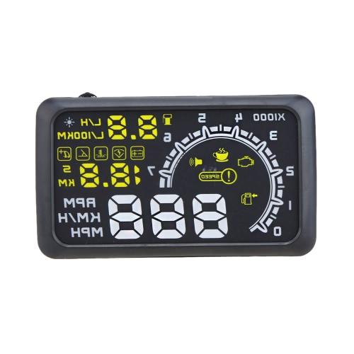 Buy 5.5 Inch Car HUD Head Display KM/h & MPH Speeding Warning OBDII Interface Windshield Project System