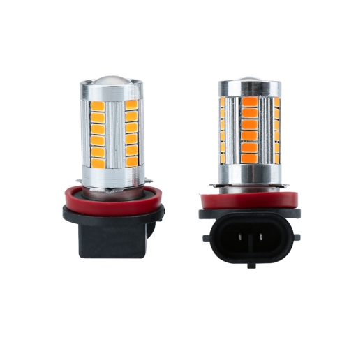 2 X 5630 33-SMD 850LM LED Car Fog Light Lamp Bulb H8 Socket Red Amber от Tomtop.com INT