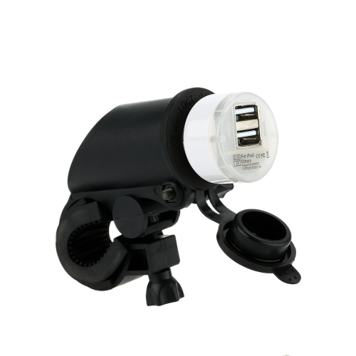 Buy Motorcycle & Car Dual USB Charger Adapter Socket iPhone iPad iPod Sumsung Mobile Phone MP3 Player