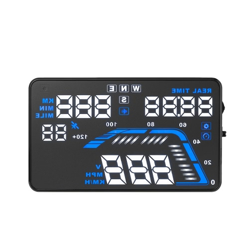 Buy Universal Car HUD Head Display KM/h & MPH Speeding Warning Windshield Project System