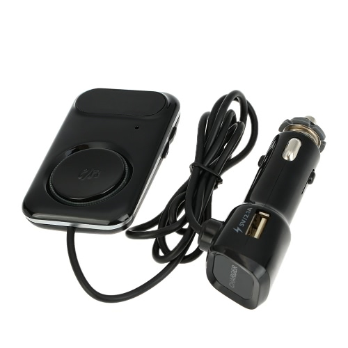 Buy Bluetooth FM Transmitter Handsfree Phone Calling Car Kit Music Player 2.1A Charger