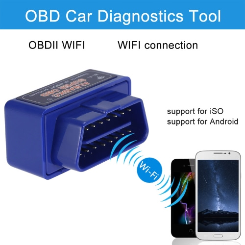 ALBABKC WiFi OBD OBDII Car Diagnostics Tool Code Reader Scanner for Android iPhone6 6plus iPad