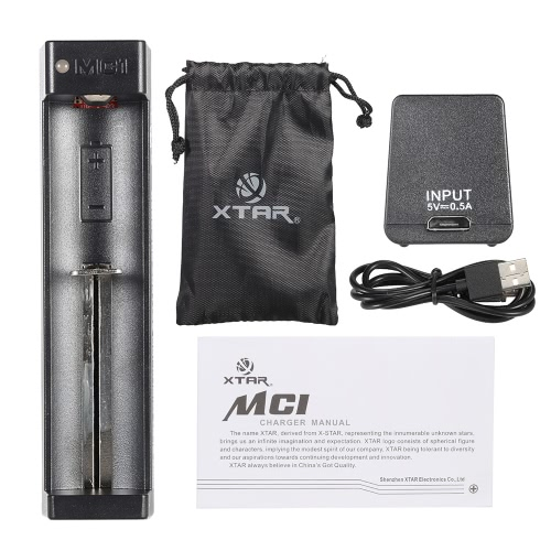 Buy XTAR MC1 Mini Portable Handy Travel Use 1-Channel USB Charger 10440/14500/14650/16340/17500/17670/18350/1849018500/18650/18700/ 22650/ 25500/26650 Lithum Battery