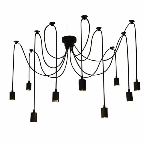 Buy Lixada 9 Arms E27 Ceiling Spider Pendant Lamp Light Antique Classic Adjustable DIY Retro Chandelier Dining Hall Bedroom Home Lighting Fixture