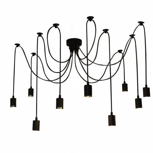 Buy Lixada 9 Arms E27 Ceiling Spider Pendant Lamp Light Antique Classic Adjustable DIY Retro Chandelier Dining Hall Bedroom Home Lighting Fixture