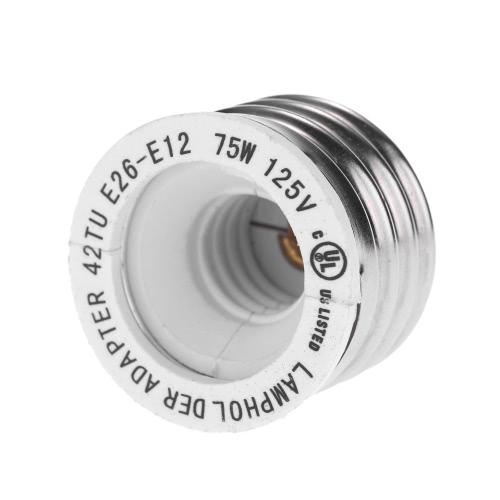 Buy UL Certificate 12 Packs E26 E12 Lamp Holder Base Adapter Converter Medium Screw Candelabra Socket