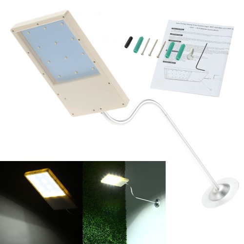 Buy Mounted LED Solar Powered Super Bright Light Control Sensor Wall Lamp 18 LEDs Energy-saving Outdoor Street Garden Water-resistance Thin
