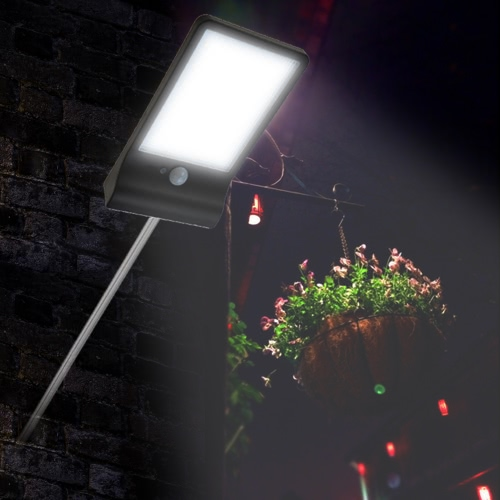 Buy 36 LED 450LM 3 Modes IP65 Water Resistant Solar Powered PIR Motion Sensor Induction Security Wall Lamp Outdoor Night Light Garden Courtyard Pathway Patio