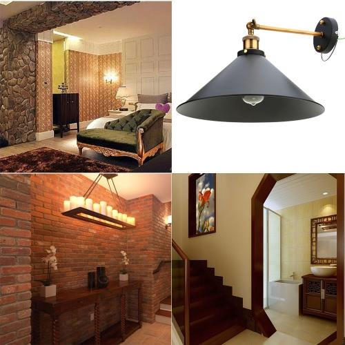 Buy Lixada Vintage Adjustable Head Wall Sconces Rustic Country Lamps Retro Metal Mounted Bedroom Stair Mirror E27