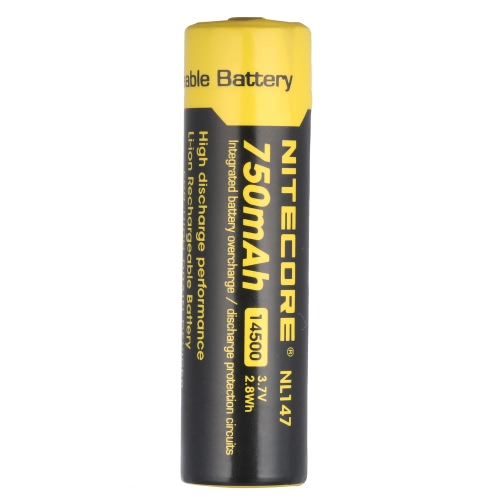 Buy NITECORE NL147 14500 Rechargeable Battery 750mAh 3.7V High Capacity LED Flashlight Torch Lamp Headlight Headlamp PCB