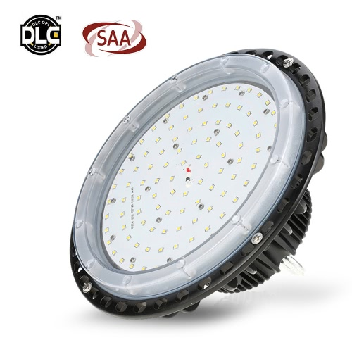 Tomshine 85-265V 100W 11000LM 105LED UFO High Bay Light Mining Industrial Light Ceiling Spotlight for Factory Workshop Warehouse Exhibition Hall Stadium Market