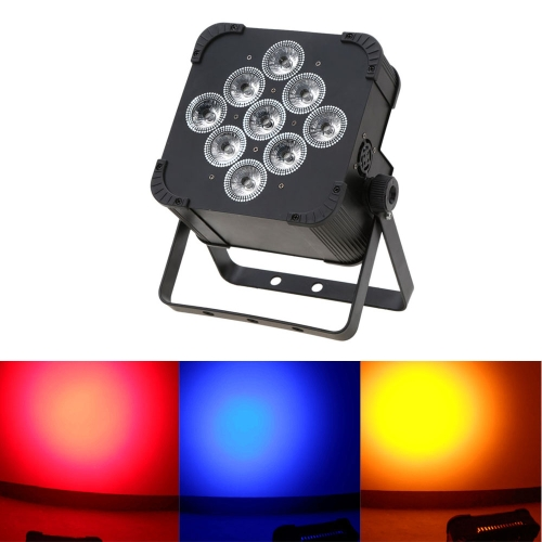 Buy 135W 9LED DMX512 Sound Control Auto Running 5/9 Channels RGBWY Color Changing PAR Wash Lamp RGBW Stage Light Disco KTV Club Party Wedding