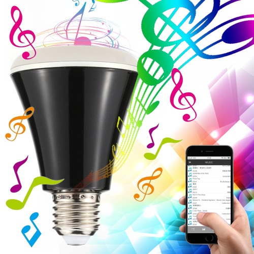 Buy 4W Bluetooth Smart Speaker LED E27 Light Bulb APP Smartphone Controlled Dimmable RGBW Color Changing Music Lights IOS Android Devices iPhone//iPad/Samsung/Tablet