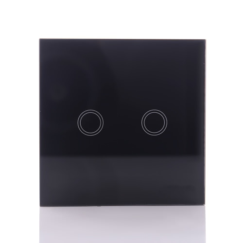 Buy 2 Gang Way Switches LED Crystal Tempering Glass Panel Light Touch Screen Remote Control Switch Home Freep Smart Household Applies Wireless Wall Lamp Indicator