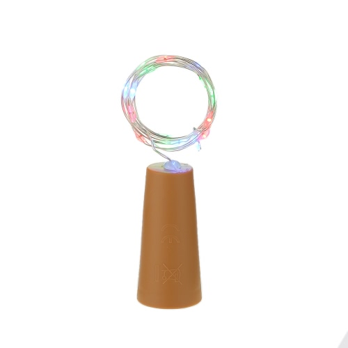 6PCS 72CM 15 LEDs High Bright Starry Fairy Light Creative Copper Wire String Bottle Stopper DIY Decoration Atmosphere Lamp for Home Bar Party Wedding Christmas Xmas Gift от Tomtop.com INT