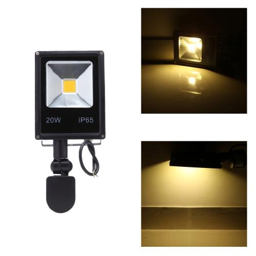 Buy 20W LED Flood Light 85~265V PIR Motion Sensor Induction Sense Lamp Water-resistant Environmental-friendly Pathway Outdoor Stair Step Garden Yard