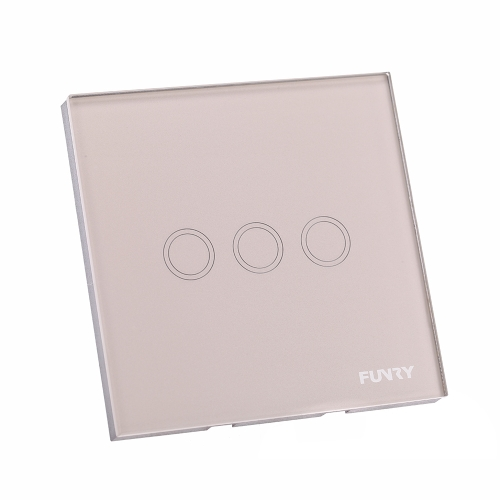 Buy Luxury Crystal Toughened Glass Switch Panel 110~250V Wireless Remote Touch Screen Wall Light