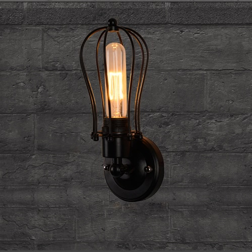 Lixada Vintage Retro Cases Lamp Light E27 Country Wall Sconce Mounted Bedroom Loft Living Room Hotel Hall от Tomtop.com INT