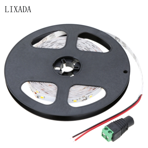 Lixada SMD 3528 60 LEDs/m 5m/lot LED Warm White Strip Fiexble Light with 12V 2A Adapter for Bar Hotel Restaurant�C TOMTOP