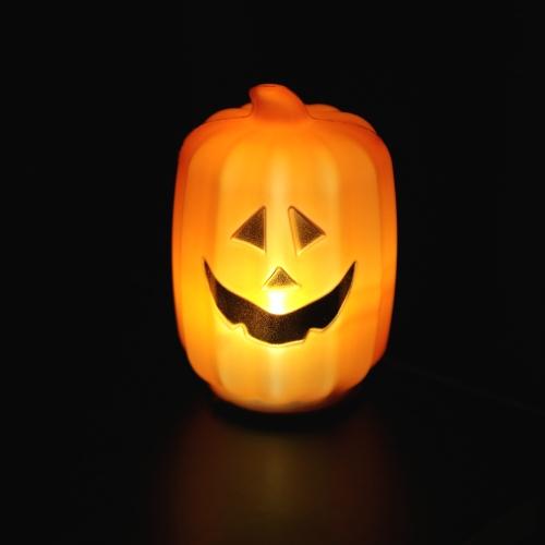 Buy Jack-O-Lanterns 8cm Glowing Led Pumpkin Lamp Halloween Decoration Children Dress Toy Prop
