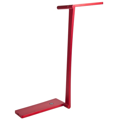 Buy LED Rechargeable Folding Table Light Ultrathin 5W 420LM AC85-265V Dimmable Touch Control Adjustable Lighting Angle Desk Reading Lamp Fixture Indoor Use Red